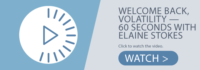 Welcome Back, Volatility - 60 Seconds with Elaine Stokes